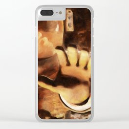 Astronauts and Aliens Clear iPhone Case