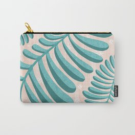 Three Happy Ferns - Green and Pink color palette  Carry-All Pouch