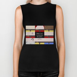 Maybe it's not the Destination that matters - Star Trek: Voyager VOY startrek trektangle minimalist Biker Tank