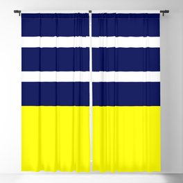 Summer Patio Perfect, Yellow, White & Navy Blackout Curtain