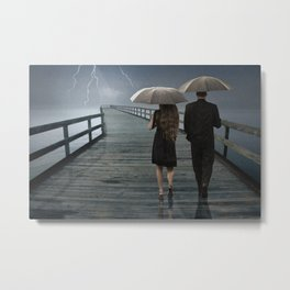 Weathering the Storm Together Metal Print