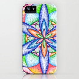 Expanding Flower Power - The Rainbow Tribe Collection iPhone Case