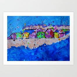 Crayola by the Sea Art Print