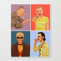trainspotting Canvas Prints featuring Trainspotting by David Amblard