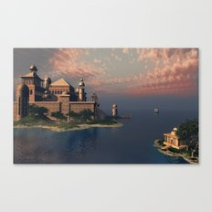 Beautiful Fantasy Town Canvas Print