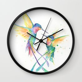 Hopeful Hummingbirds Wall Clock