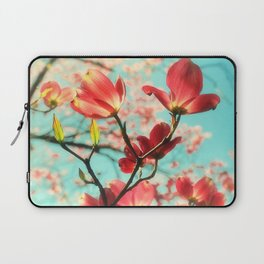 Spring dogwood blossoms Laptop Sleeve
