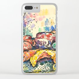 "Paul Signac ""Still Life with Jug"" Clear iPhone Case"