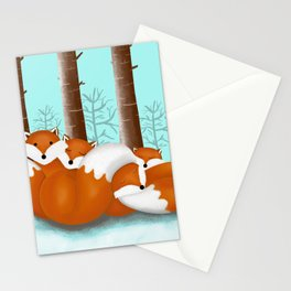 Slepping foxes Stationery Cards