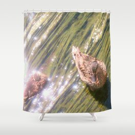 Off a Ducks Back Shower Curtain
