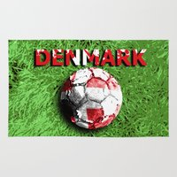 denmark Area & Throw Rugs featuring Old football (Denmark) by seb mcnulty