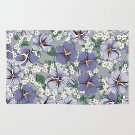 seamless pattern with viola flowers Rug