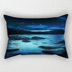 Magical Mountain Lake Rectangular Pillow