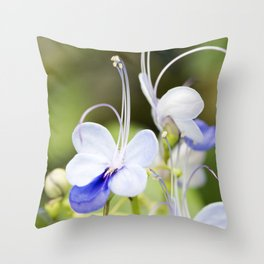 Blue Glory Bower Anthers Throw Pillow