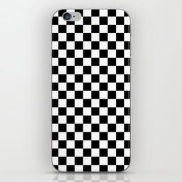 Black Checkerboard Pattern iPhone Skin