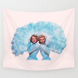 Sisters - White Christmas - Watercolor Wall Tapestry