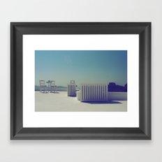 Turquoise Gazing  Framed Art Print
