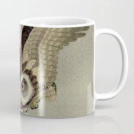 Japanese Owl and Moon Coffee Mug