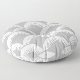 Japanese Fish scales Grey Floor Pillow