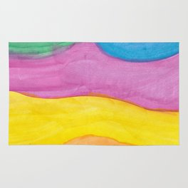 Different Waves Watercolor Rug