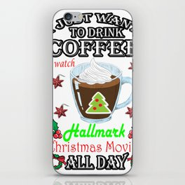 This Is My HallMark Christmas Movie Watching Shirt iPhone Skin