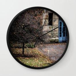 Blue Doors Wall Clock