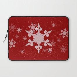 Snow Falls - Red Laptop Sleeve