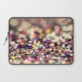 Rainbow Sprinkles - an abstract photograph Laptop Sleeve