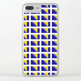 Flag of Bosnia 2 – Bosnian,Bosniak,herzegovinian,bosna,Sarajevo,Balkan,yugoslavia. Clear iPhone Case
