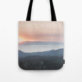 Mountain Top View Tote Bag