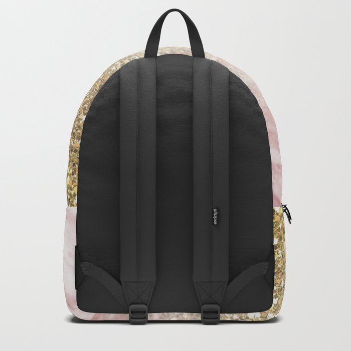 Rose gold marble sunset gradient Backpack
