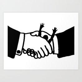 Pact against citizens Art Print