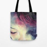 sleep Tote Bags featuring Sleep  by margaw