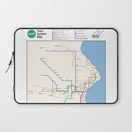 Milwaukee Transit System Map Laptop Sleeve
