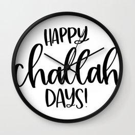 Hannukah Happy Challah Days Jewish Holiday Challah Bread Wall Clock