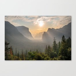 Morning Yosemite Landscape Canvas Print