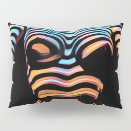 1205s-MAK Shadow Striped Female Torso Rendered Composition Style Pillow Sham