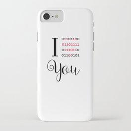 Our love in binary code iPhone Case