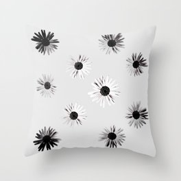 Shadow Box Flowers Throw Pillow