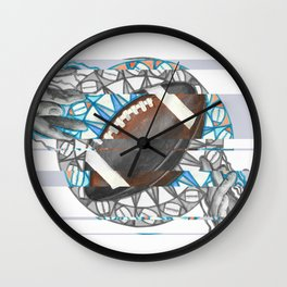 The perfect pass / American football Wall Clock