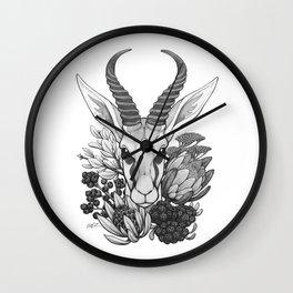 Springbok & Fynbos Wall Clock