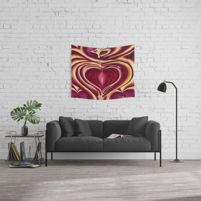 4 of hearts Wall Tapestry