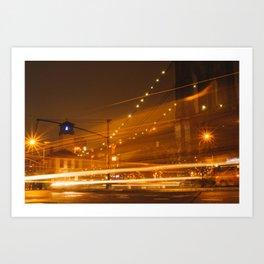 Downtown Brooklyn at Night Art Print