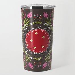 Beautiful Floral Mandala Travel Mug