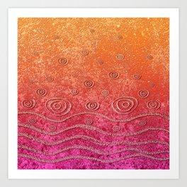 Ripples and Rain Art Print