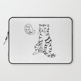 Cat with coffee Laptop Sleeve