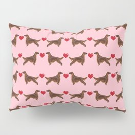 Irish Setter love heart cute pure breed irish setters gifts Pillow Sham