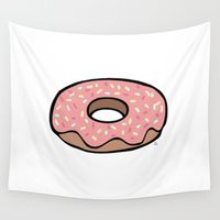donut Wall Tapestries featuring Donut by Rosalyns Pretty Things