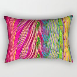 Rainbow Waves  #society6 #decor #buyart Rectangular Pillow