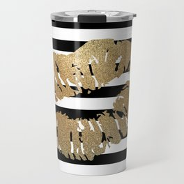 Gold Lips 2 Travel Mug